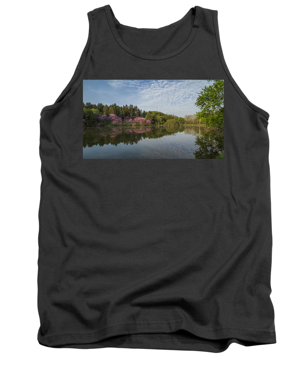 Redbud Tank Top featuring the photograph Spring Redbud Trees by Lindley Johnson