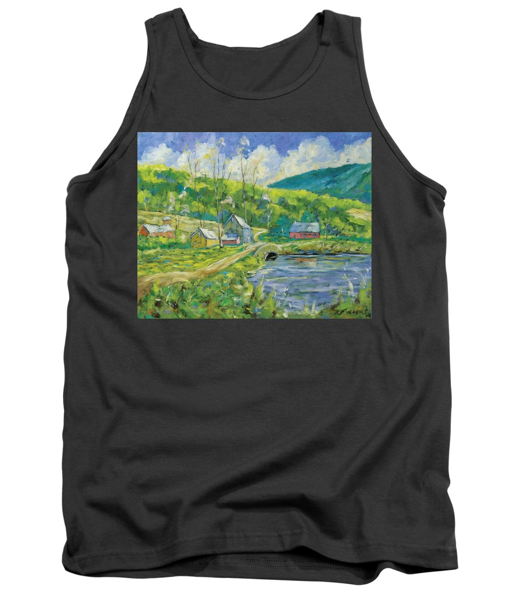 Landscape Tank Top featuring the painting Spring Scene by Richard T Pranke