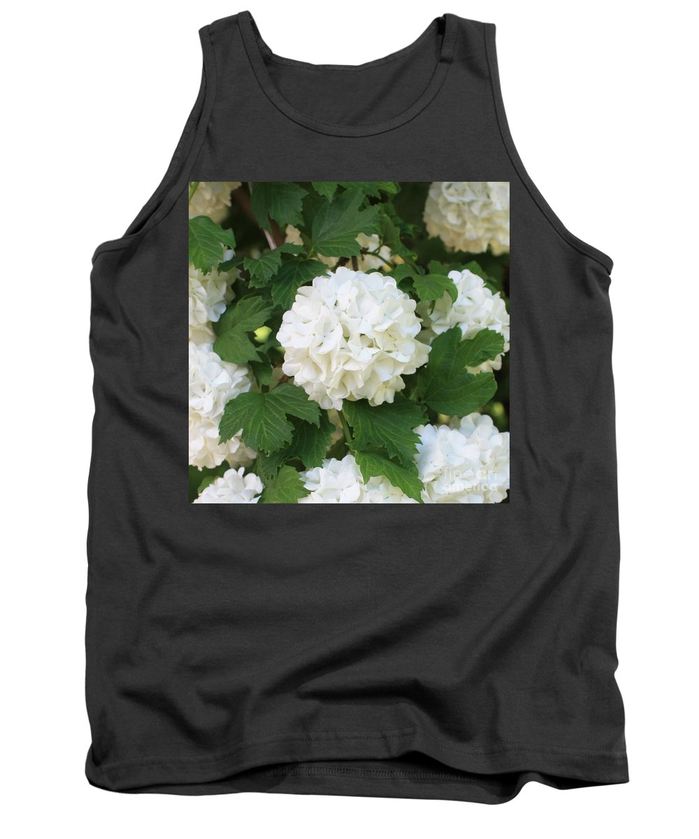 Snowball Tank Top featuring the photograph Spring Snowball by Carol Groenen