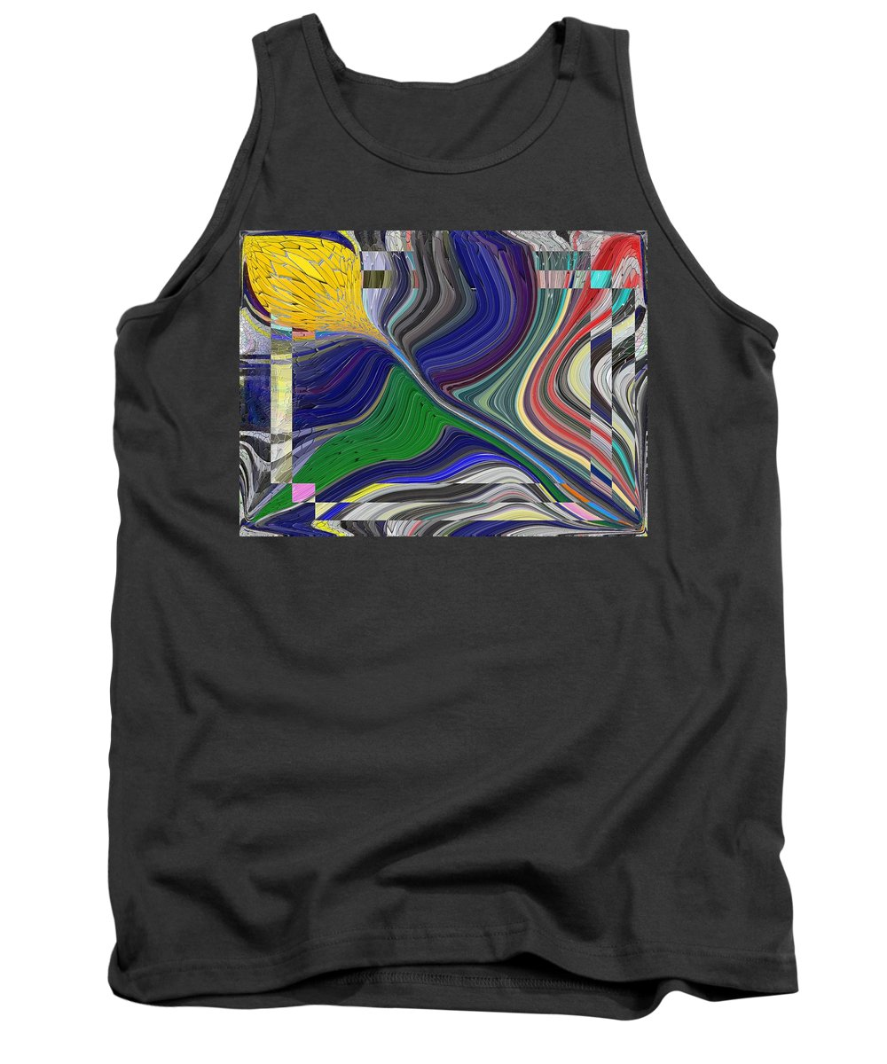 Abstract Tank Top featuring the digital art Springtime Delight by Tim Allen