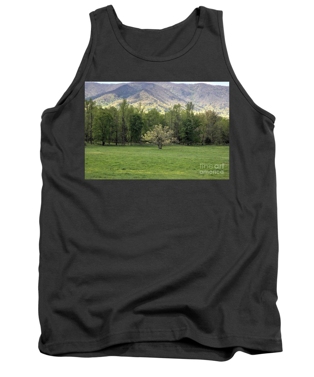 Landscape Tank Top featuring the photograph Springtime In Cades Cove Great Smoky Mountains National Park by Felix Lai