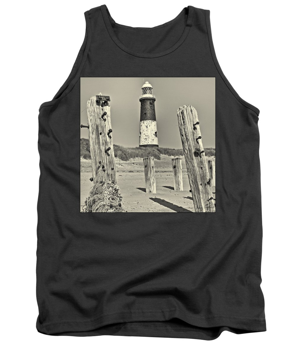 Spurn Tank Top featuring the photograph Spurn Lighthouse by Ray Hydes