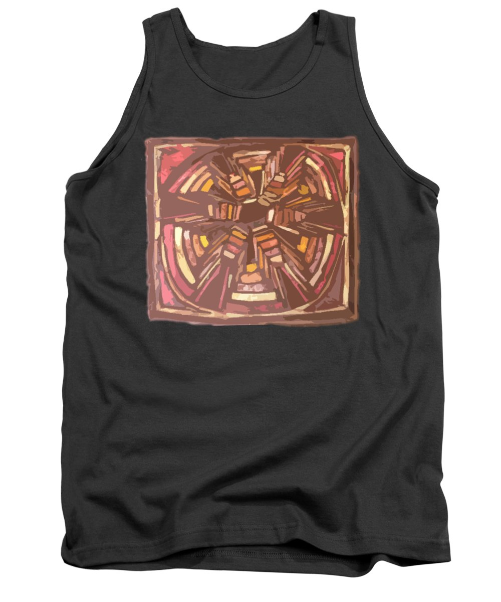 Batik Tank Top featuring the photograph Squash Blossom Cutout by Lori Russell