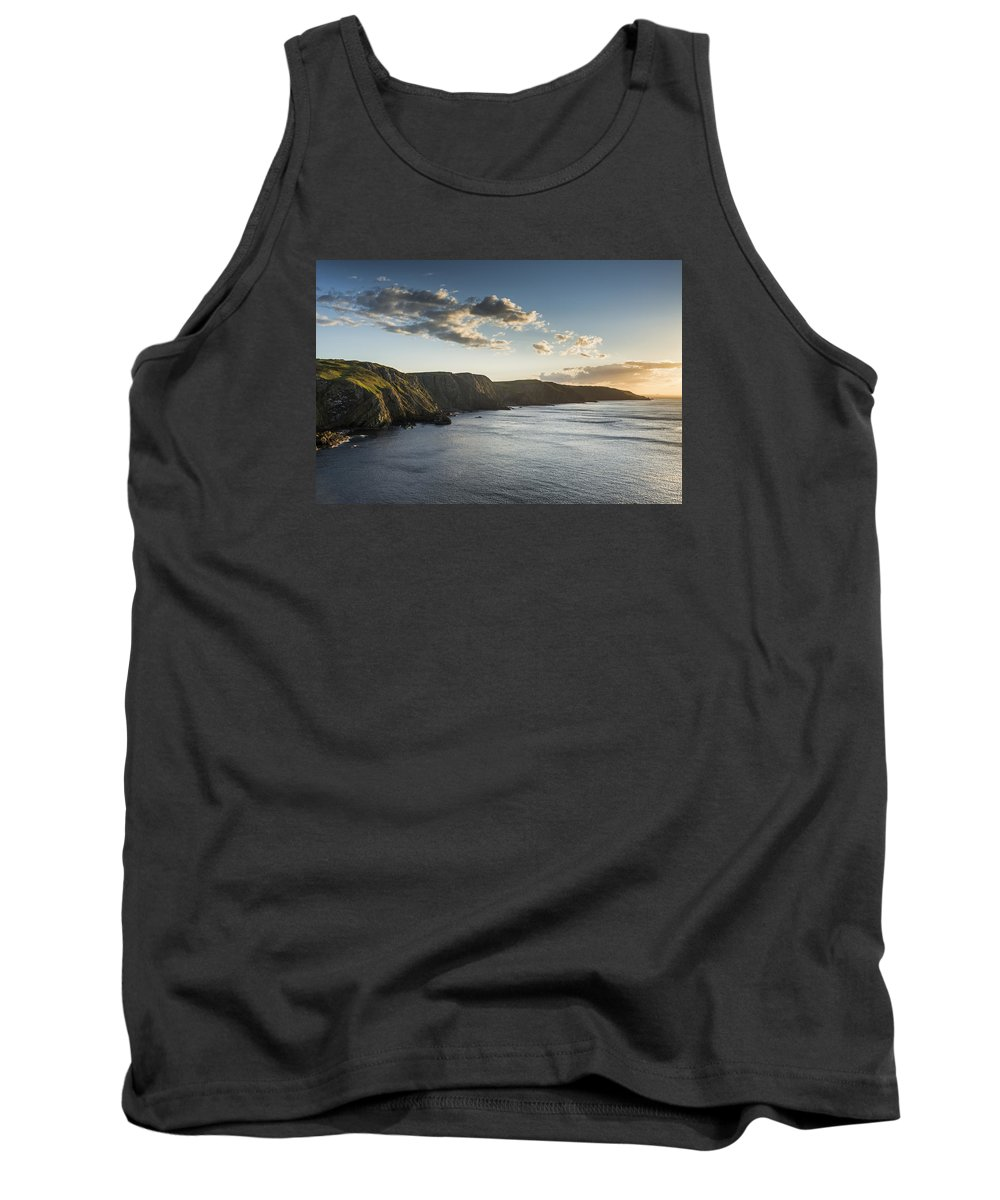 Britain Tank Top featuring the photograph St Abbs Sunset by David Taylor