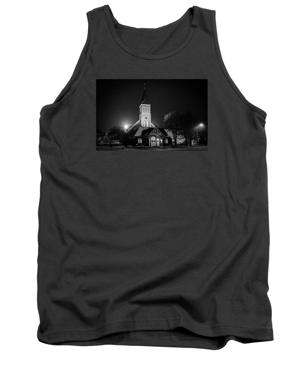 Mandan Tank Top featuring the photograph St Joes Church Mandan 4 by Chad Rowe
