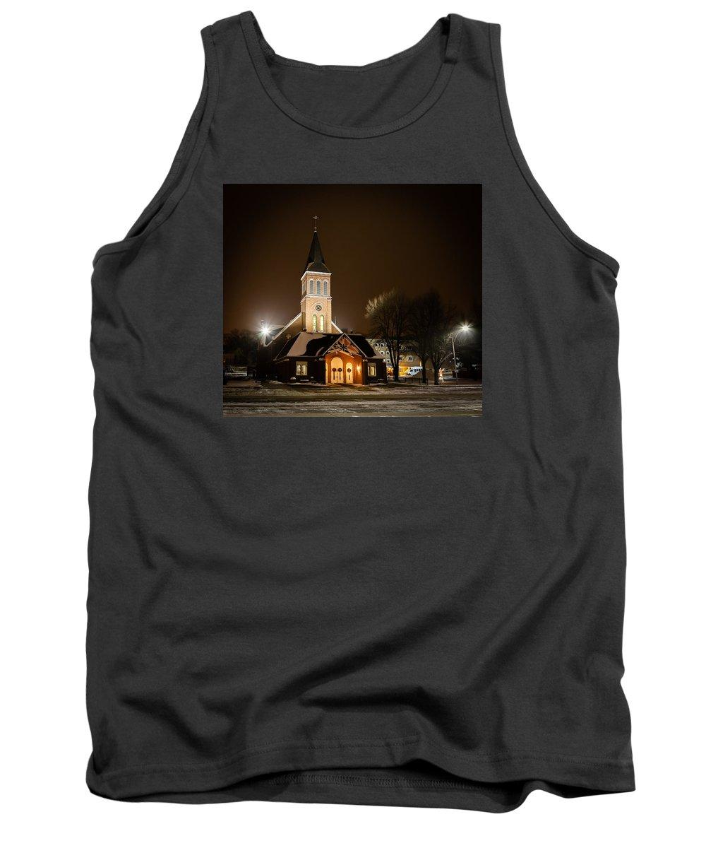 Mandan Tank Top featuring the photograph St Joes Church Mandan 6 by Chad Rowe