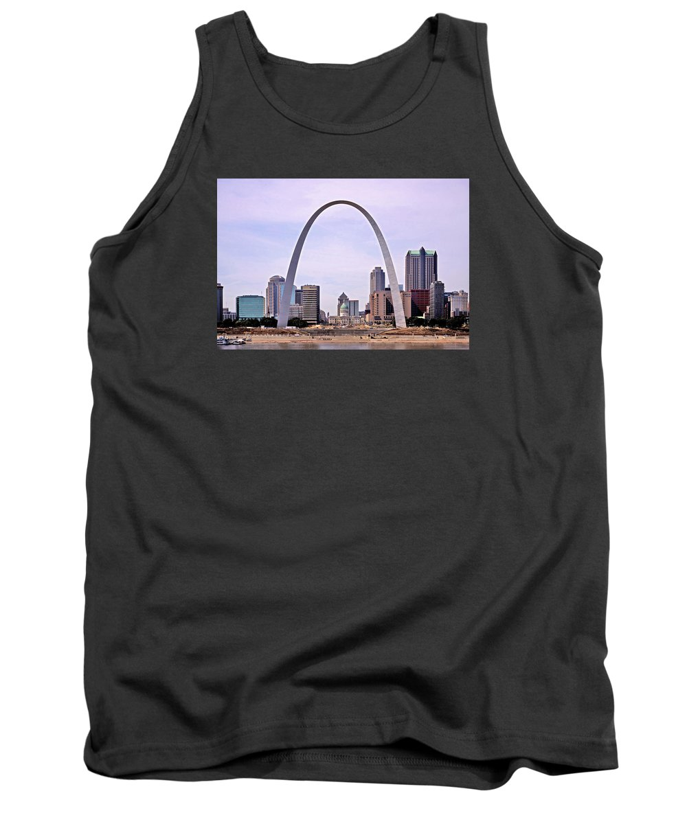 St. Louis Tank Top featuring the photograph St. Louis Skyline by Kevin Ellis