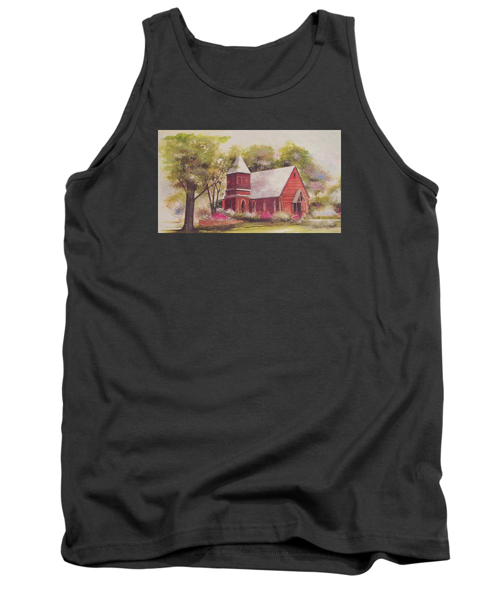 Charles Roy Smith Tank Top featuring the painting St. Mary's Chapel by Charles Roy Smith