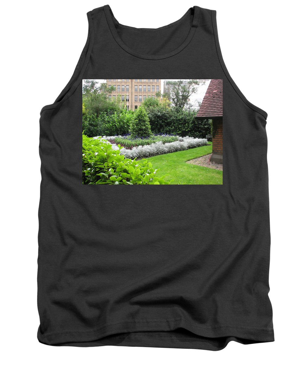 Ireland Tank Top featuring the photograph St. Stephen's Garden by Kelly Mezzapelle