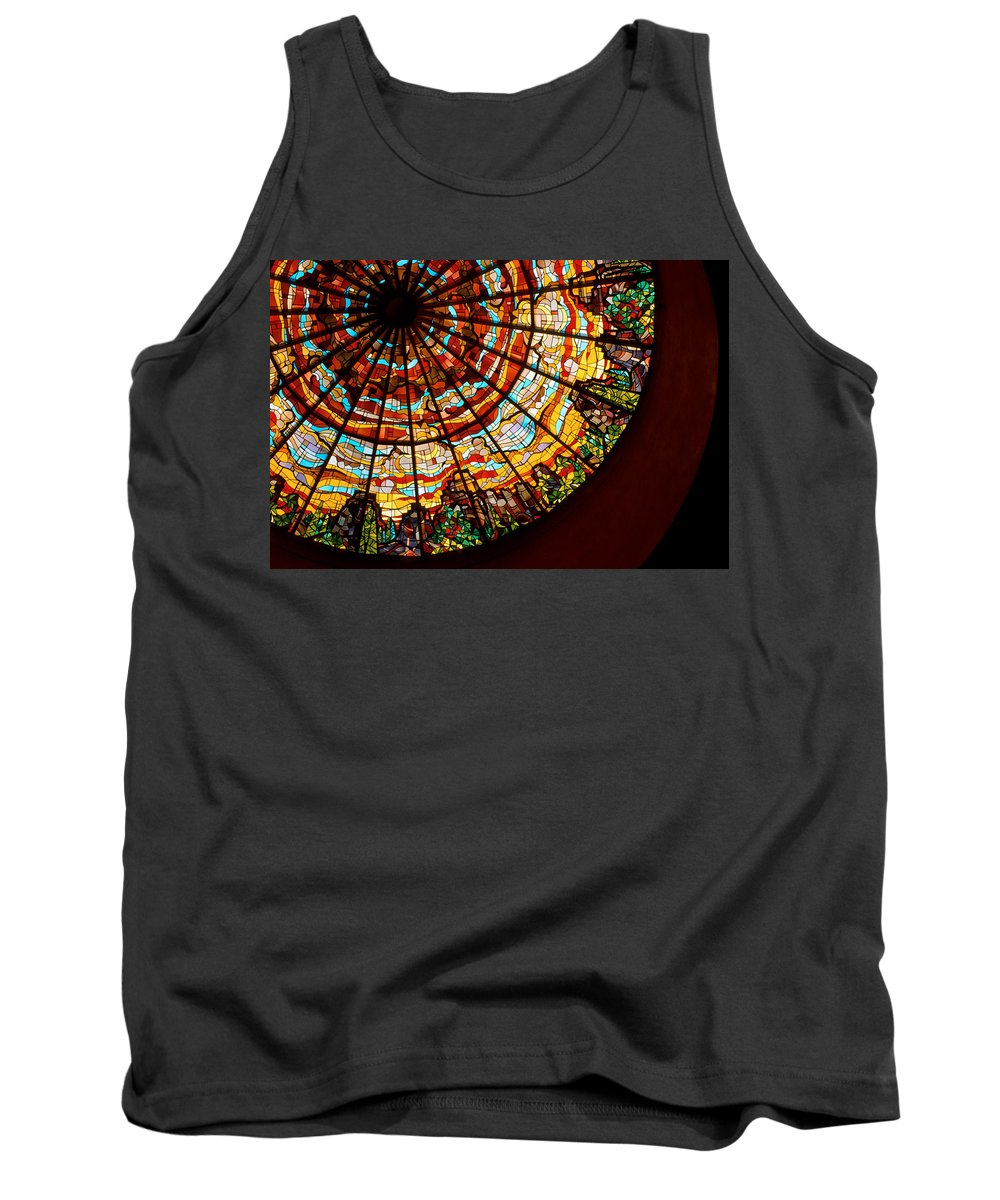 Stained Glass Tank Top featuring the photograph Stained Glass Ceiling by Jerry McElroy