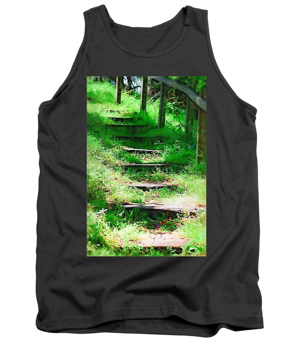 Stairs Tank Top featuring the photograph Stairway To Heaven by Donna Bentley