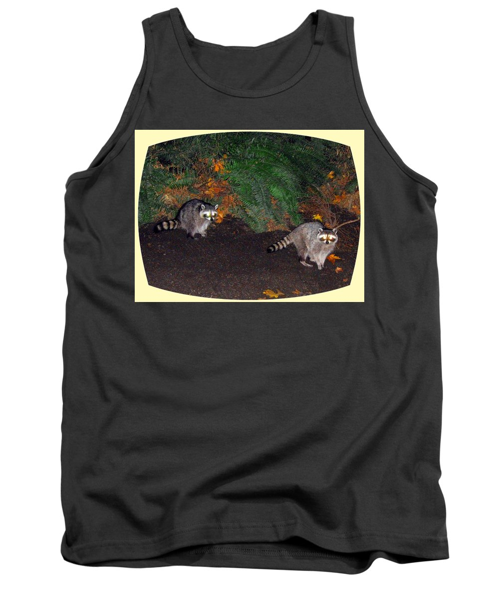 Raccoons Tank Top featuring the photograph Stanley Park Rascals by Will Borden