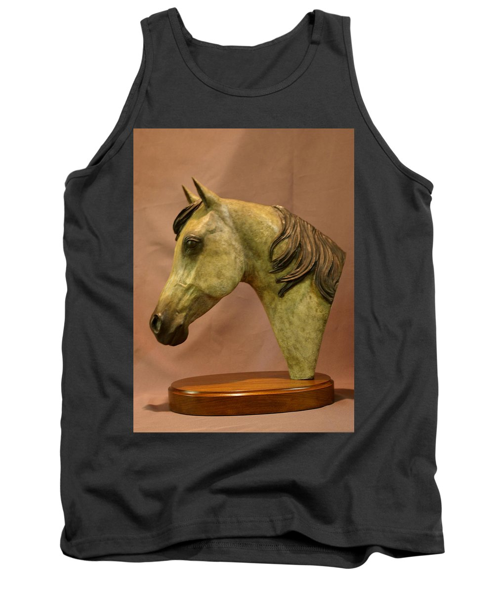 Bronze Tank Top featuring the sculpture Stardust by Kim Corpany