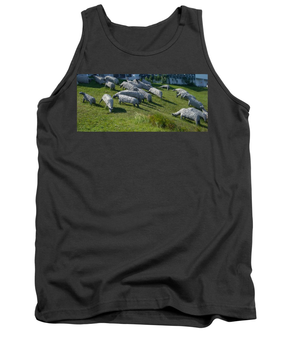 Sheep Tank Top featuring the photograph Ste Flavie 002 by Line Gagne