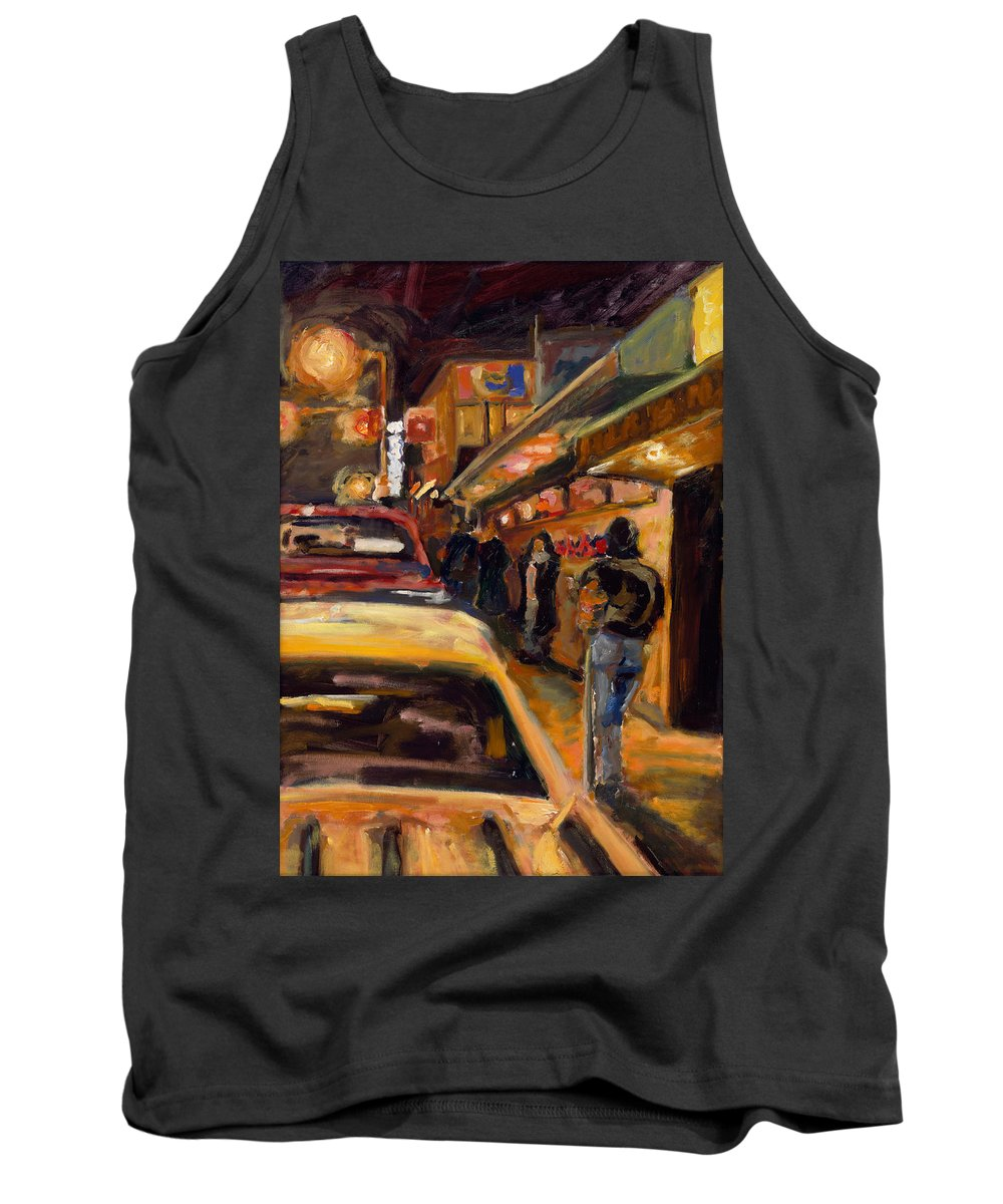 Rob Reeves Tank Top featuring the painting Steb's Amusements by Robert Reeves