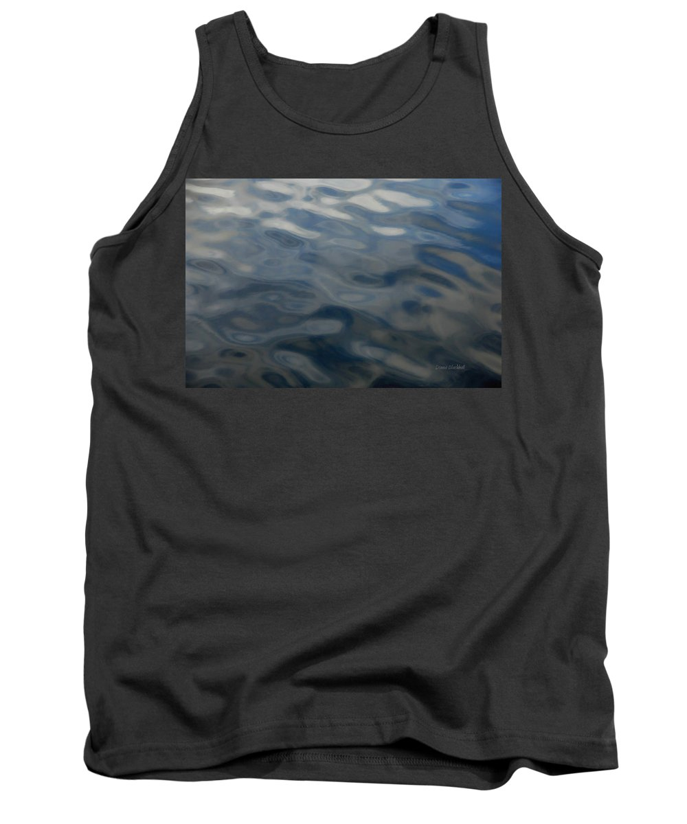 Water Tank Top featuring the photograph Steel Blue by Donna Blackhall