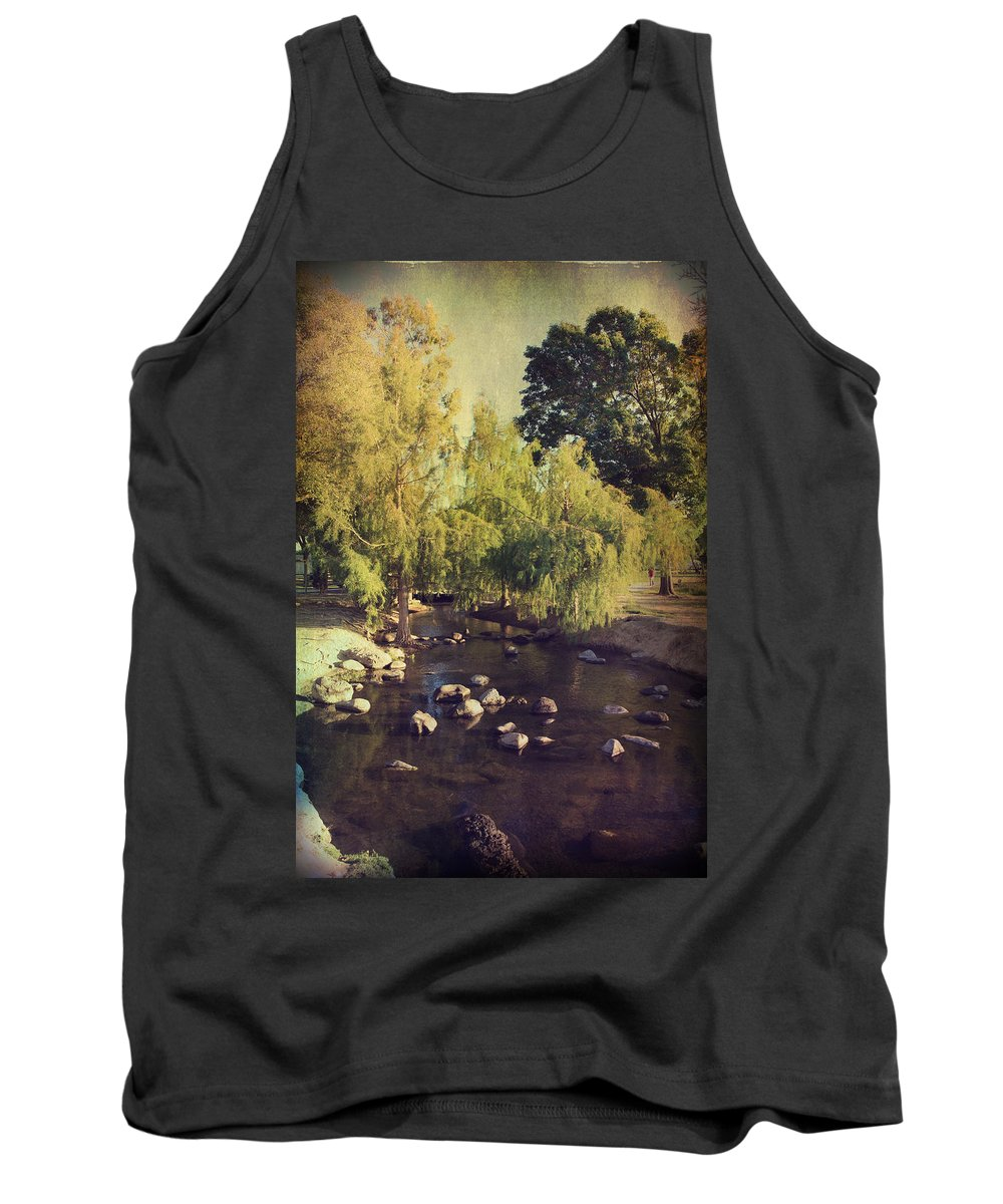 Landscapes Tank Top featuring the photograph Stepping Stones To My Heart by Laurie Search