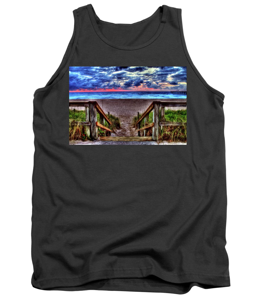 Palm Beach Tank Top featuring the photograph Steps by Francisco Colon