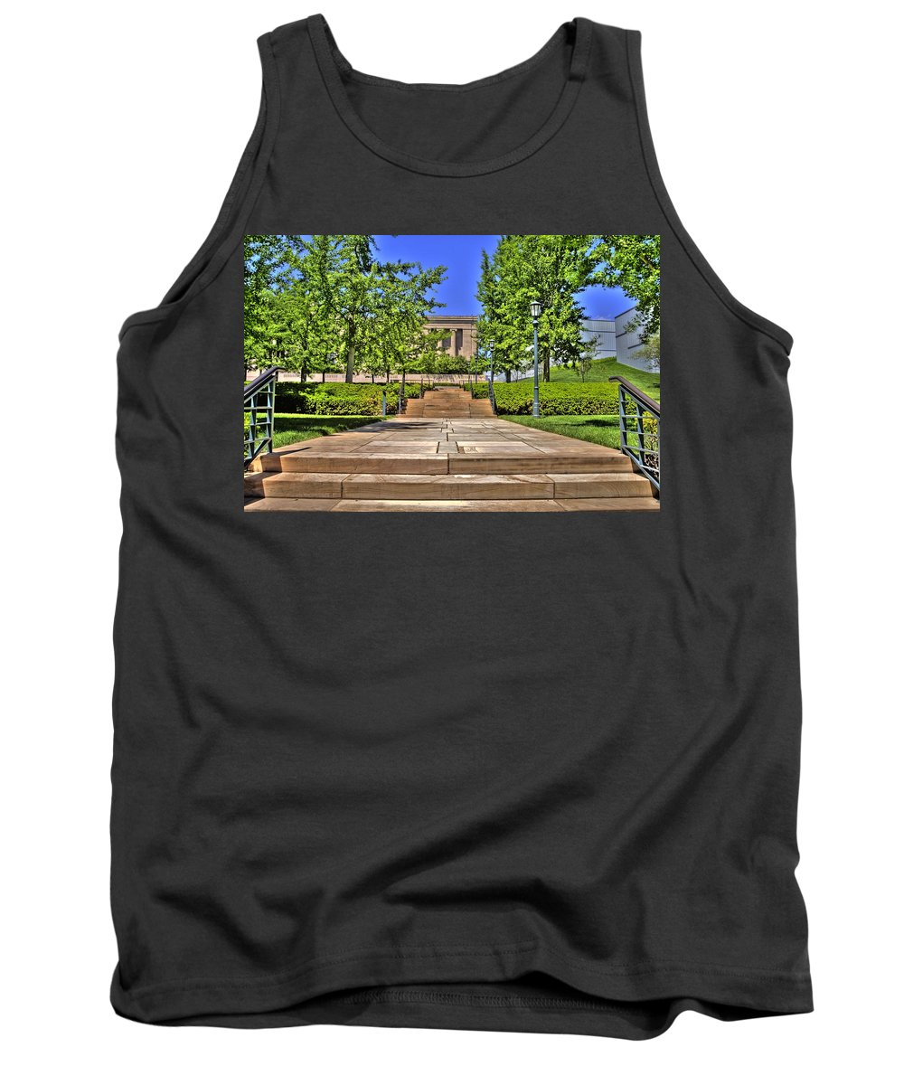 Hdr Tank Top featuring the photograph Steps To The Nelson by Timothy Bischoff