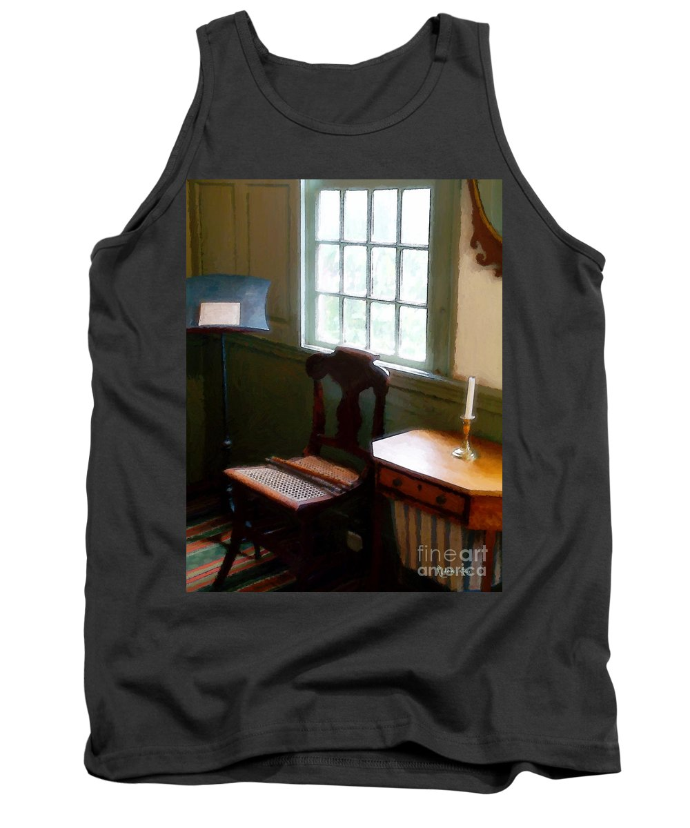 Still Life Tank Top featuring the painting Still Life, Stevens House by RC deWinter