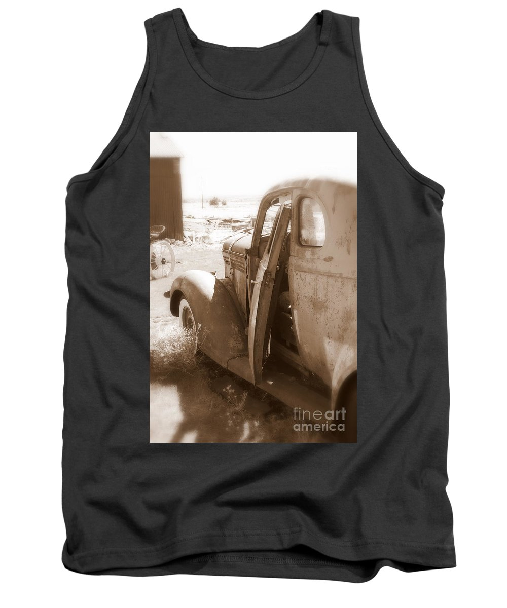 Disrepair Tank Top featuring the photograph Still Waiting On Repairs by Carol Groenen