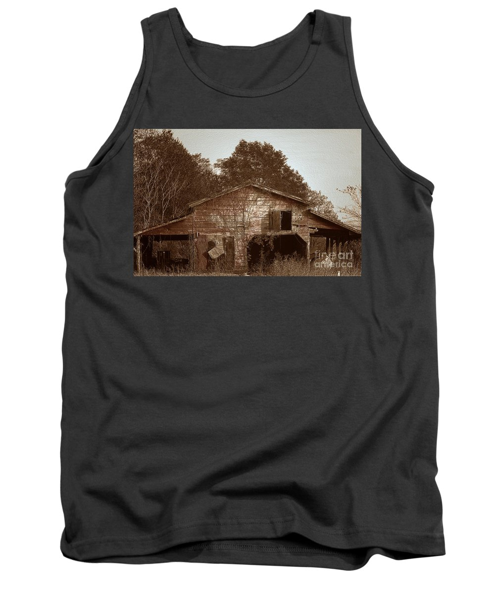 Barn Tank Top featuring the photograph Still Working by Amanda Barcon