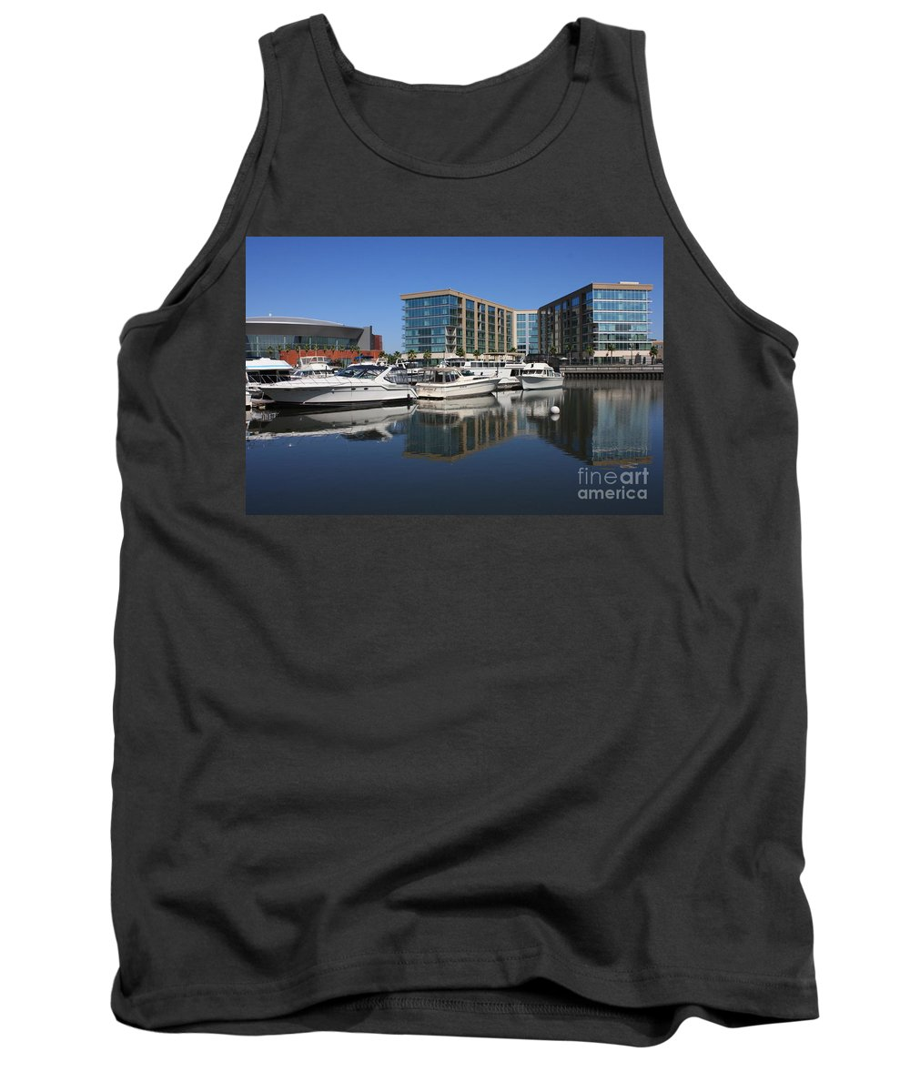 Stockton Tank Top featuring the photograph Stockton Waterscape by Carol Groenen