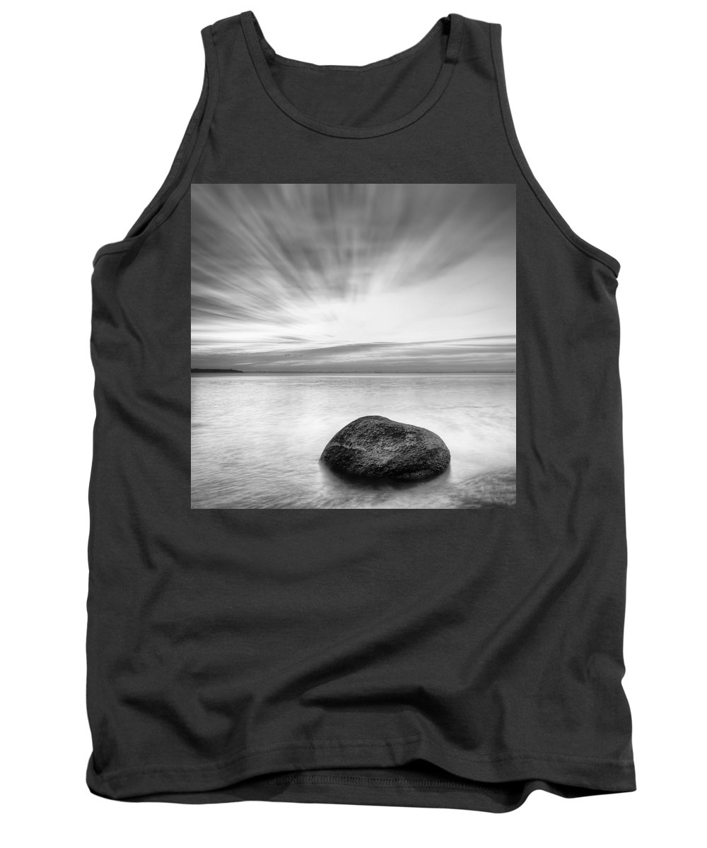 Dusk Tank Top featuring the photograph Stone In The Sea by Evgeni Dinev