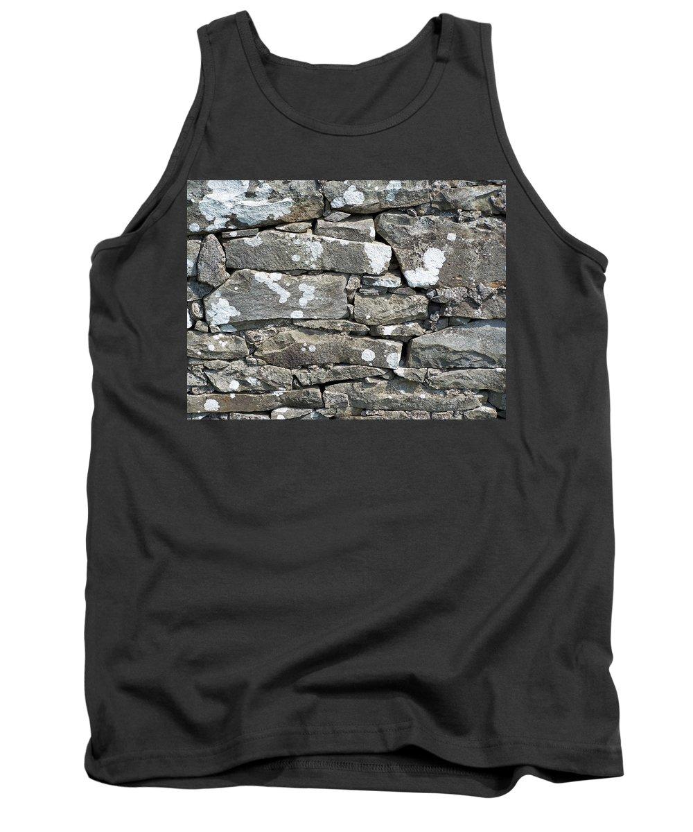 Irish Tank Top featuring the photograph Stone Wall Detail Doolin Ireland by Teresa Mucha