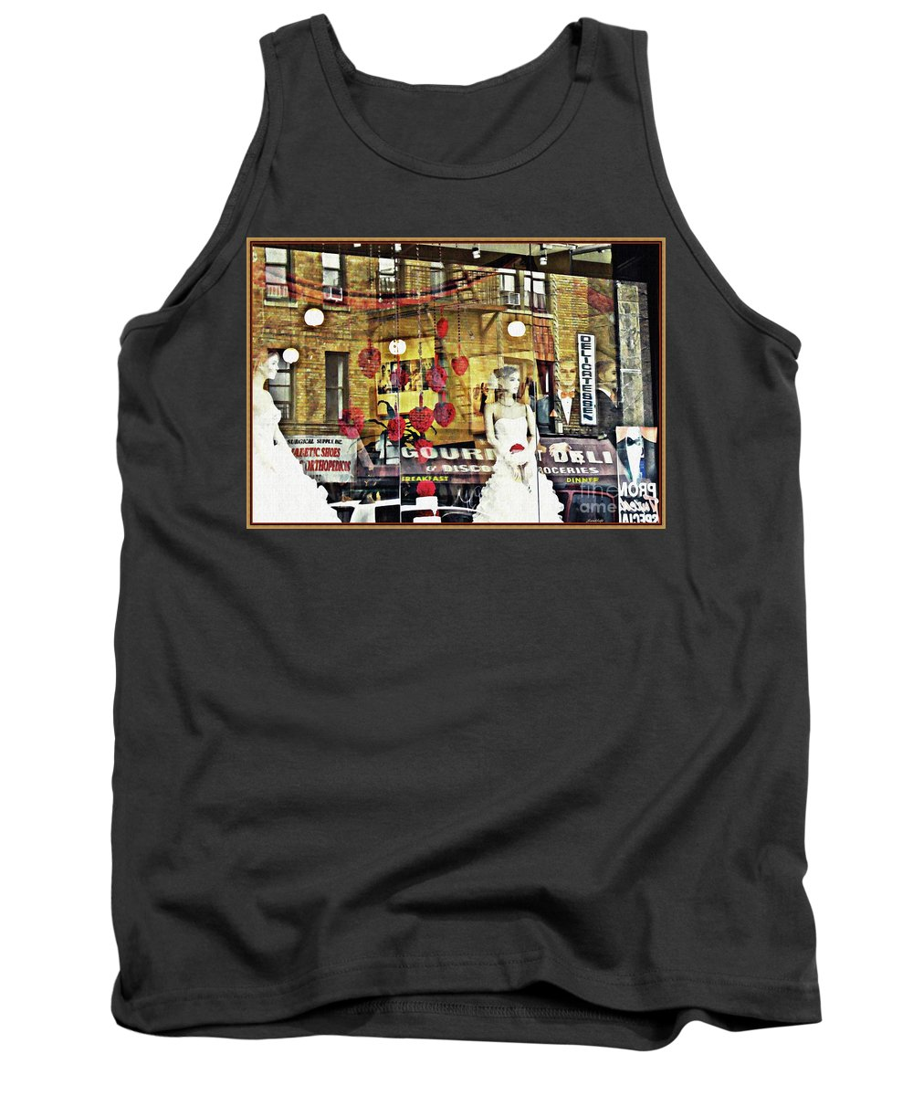 Mannequin Tank Top featuring the photograph Store Front Wedding by Sarah Loft
