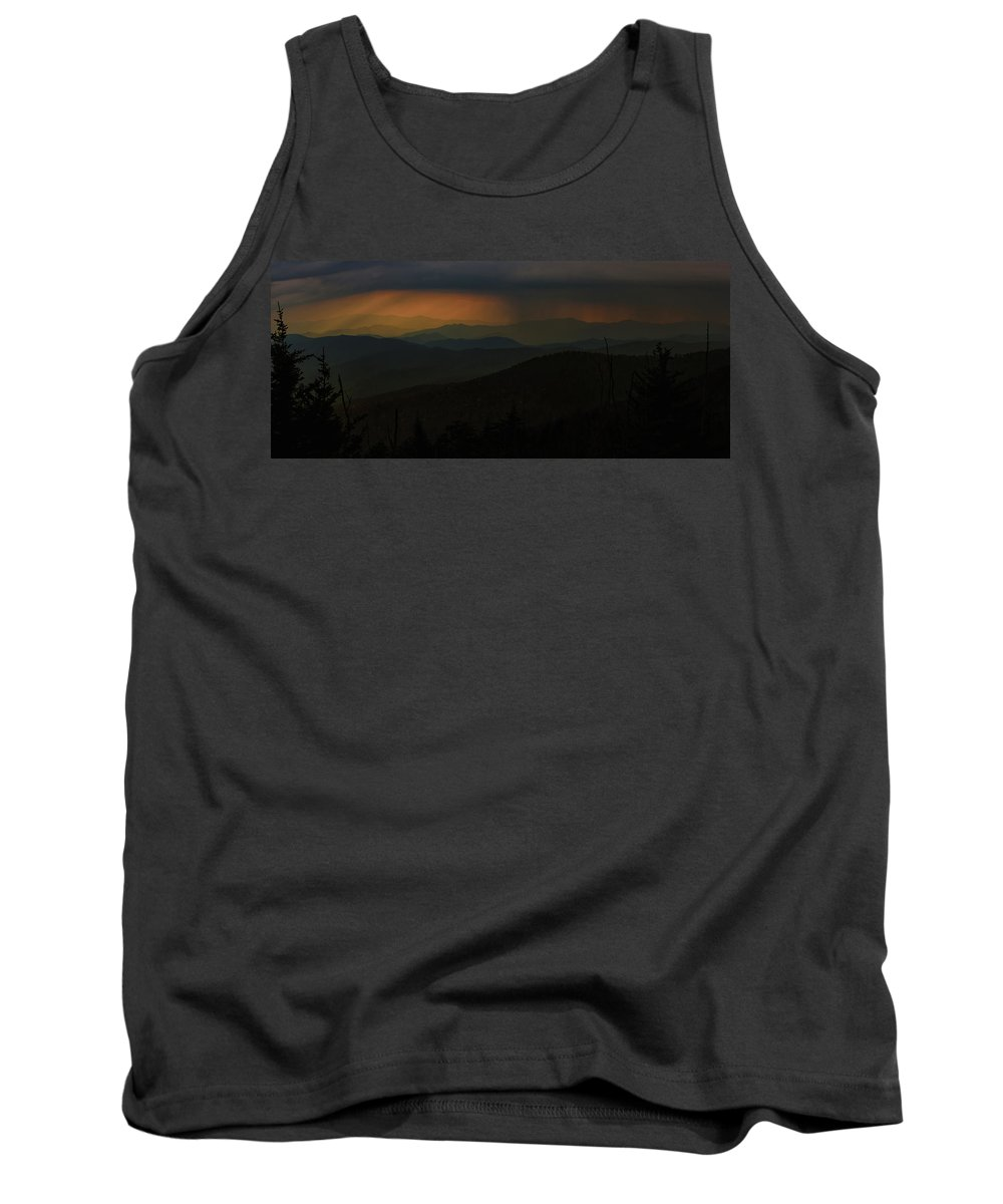 Storm Tank Top featuring the photograph Storm Brewing In The Smokies by Randall Evans