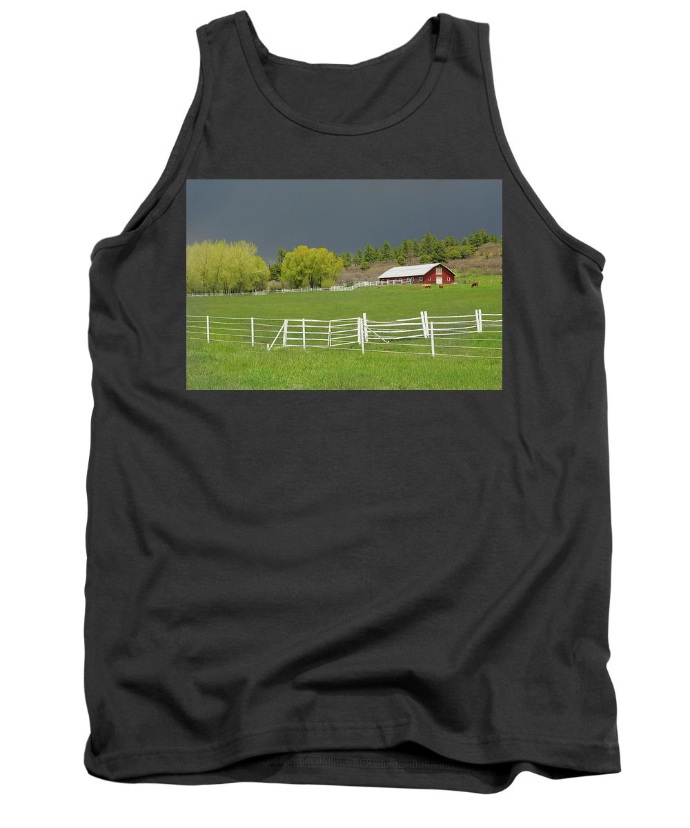 Farm Tank Top featuring the photograph Storm Coming by Al Beard