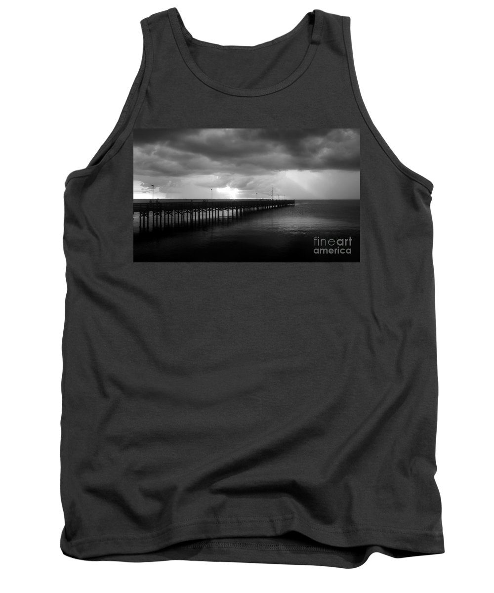 Anclote Keys Tank Top featuring the photograph Storm Over The Anclote by David Lee Thompson