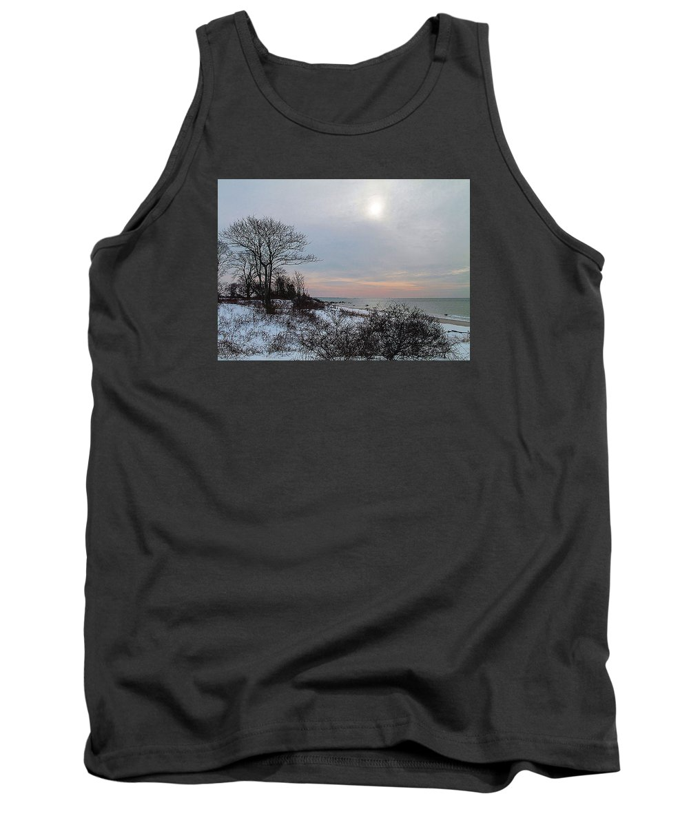 Landscape Tank Top featuring the photograph Storm Trilogy-one Harkness Memorial State Park by Geneva Renegar