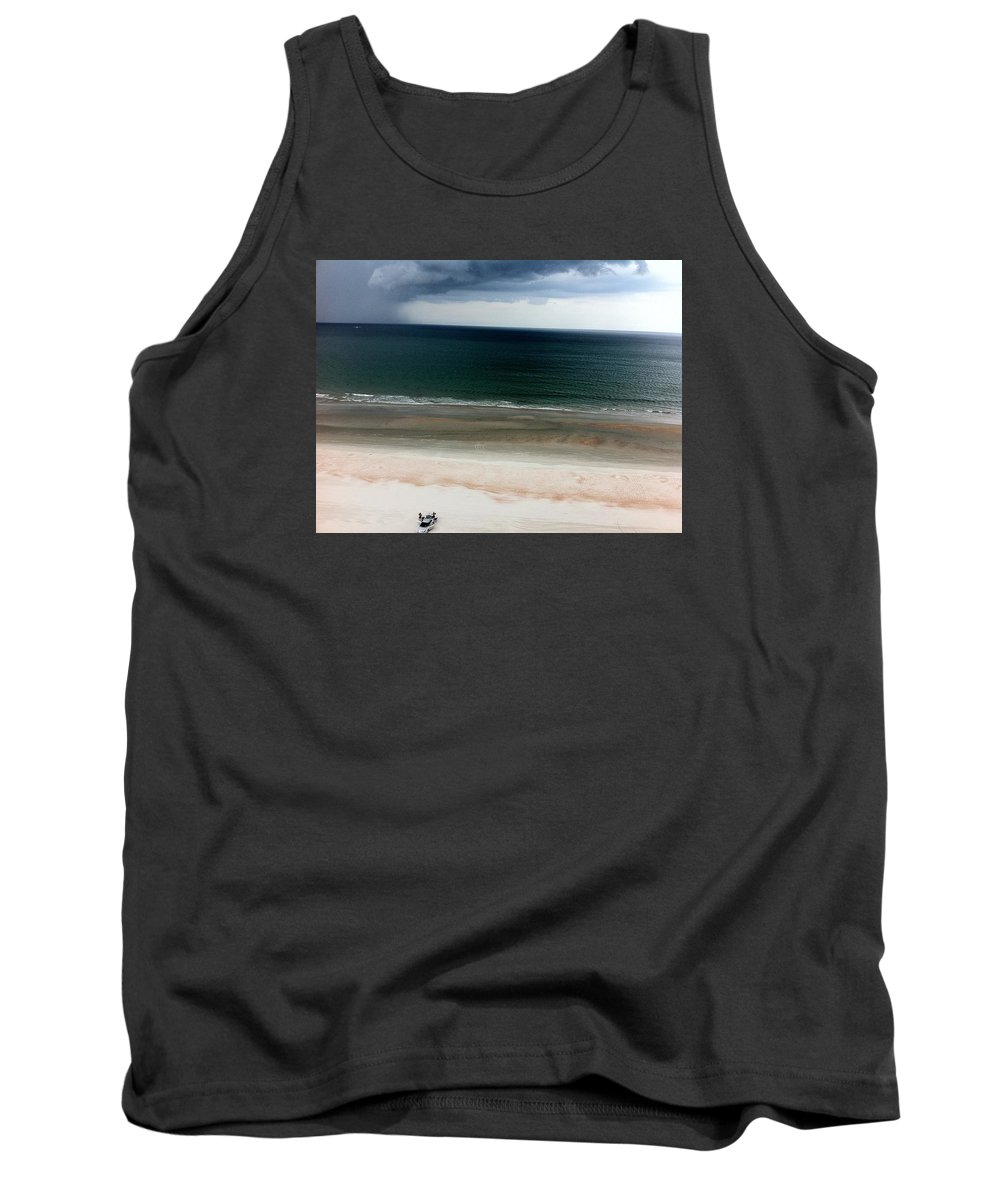 Atlantic Ocean Beachfront View Tank Top featuring the photograph Storms A Coming by James Benderson
