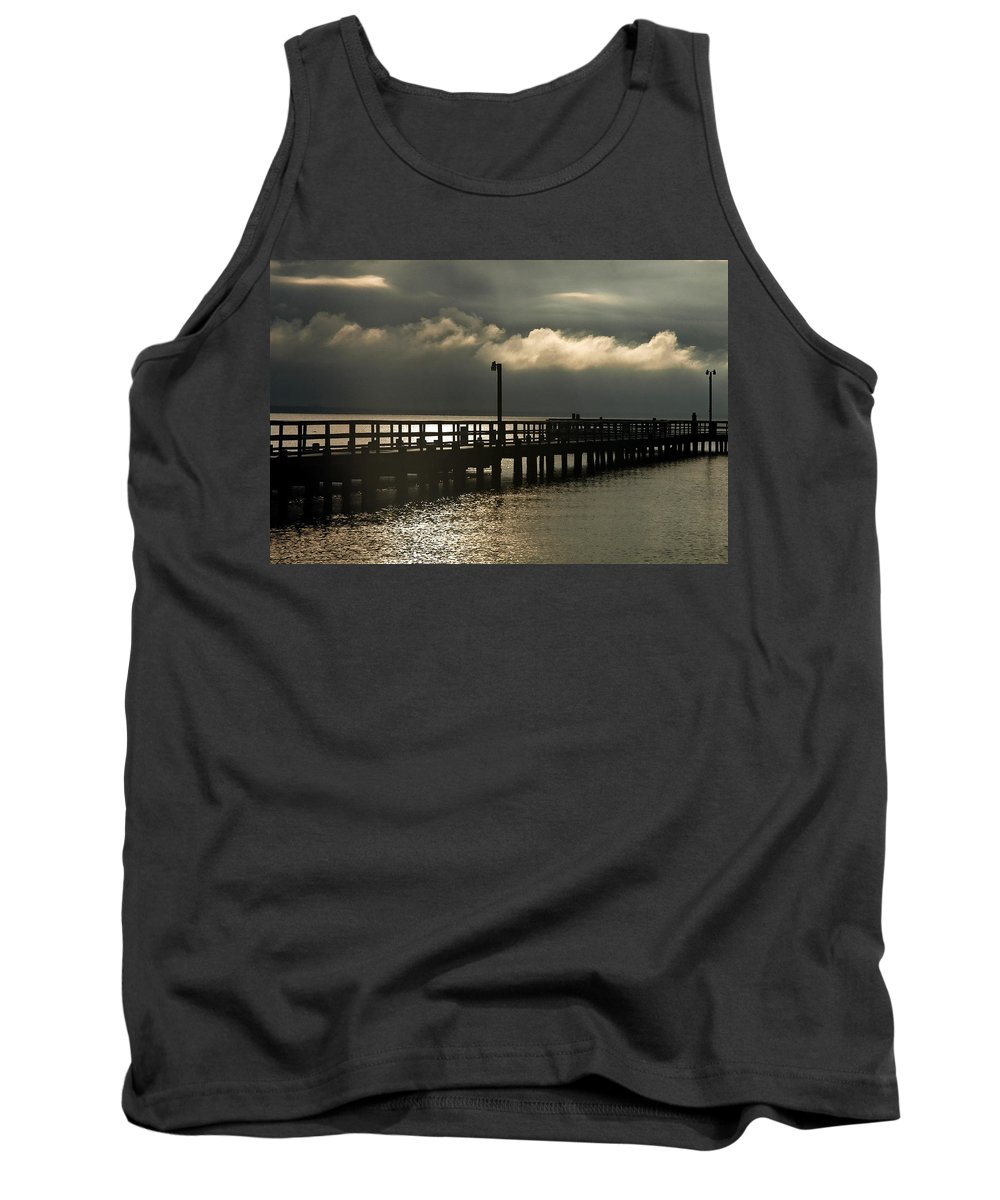 Clay Tank Top featuring the photograph Storms Brewin' by Clayton Bruster