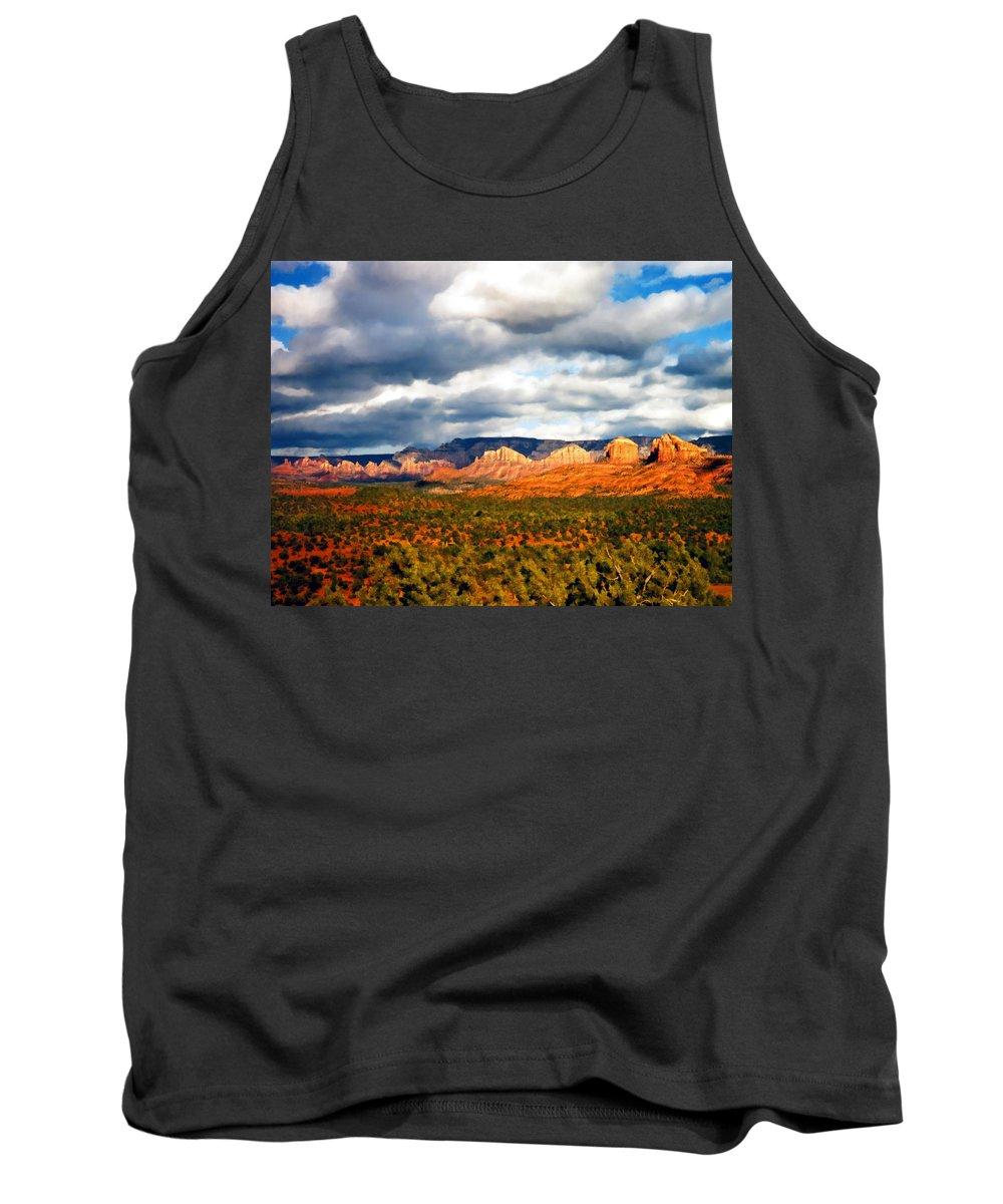 Desert Tank Top featuring the photograph Stormwatch Arizona by Kurt Van Wagner