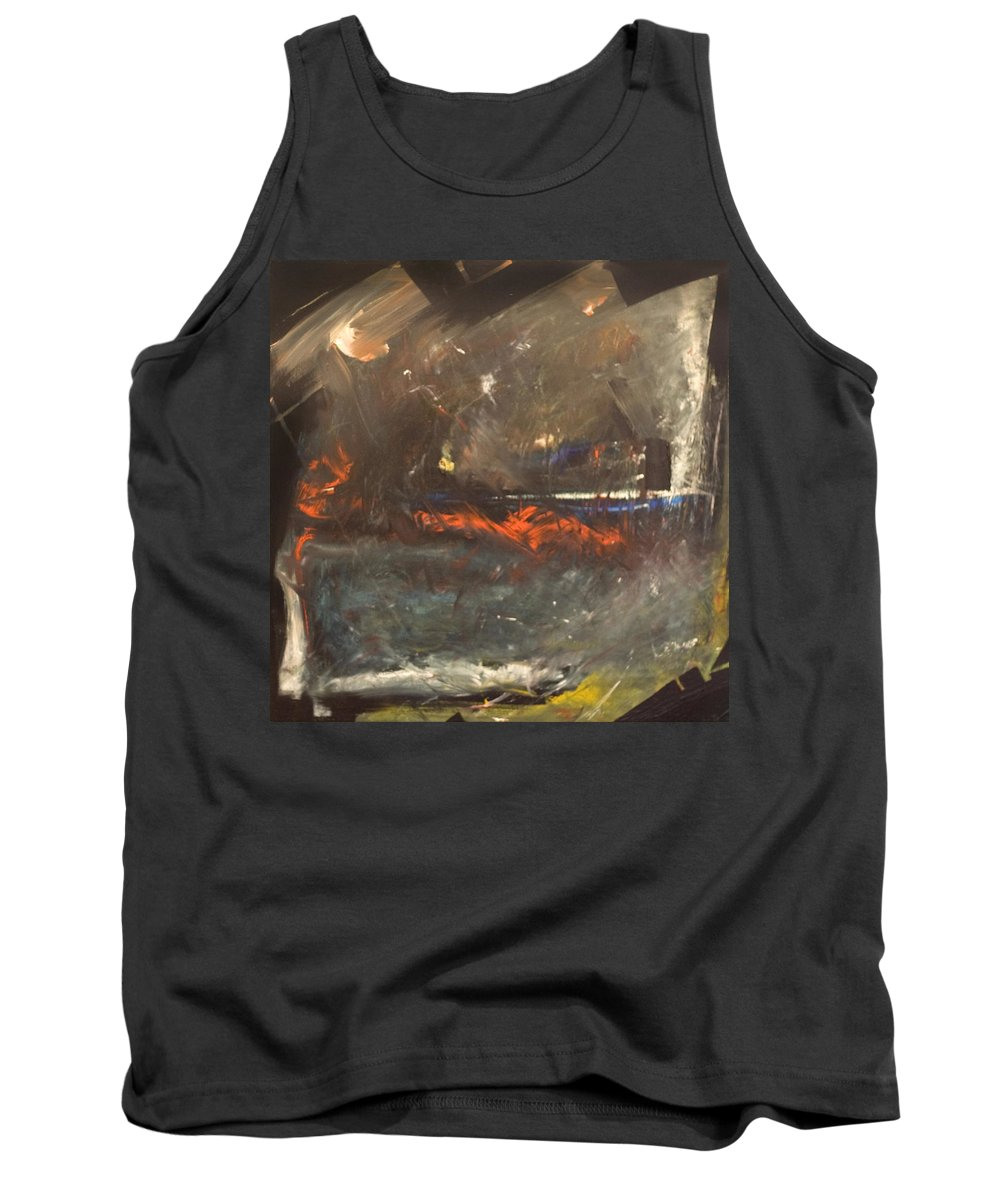 Storm Tank Top featuring the painting Stormy Monday by Tim Nyberg