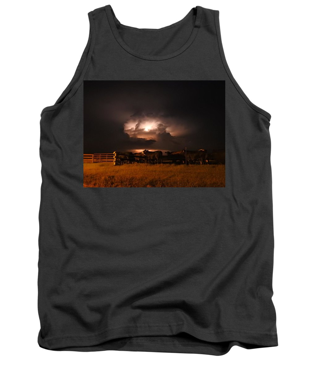 Thunderstorm Tank Top featuring the photograph Stormy Night by Delana Epperson