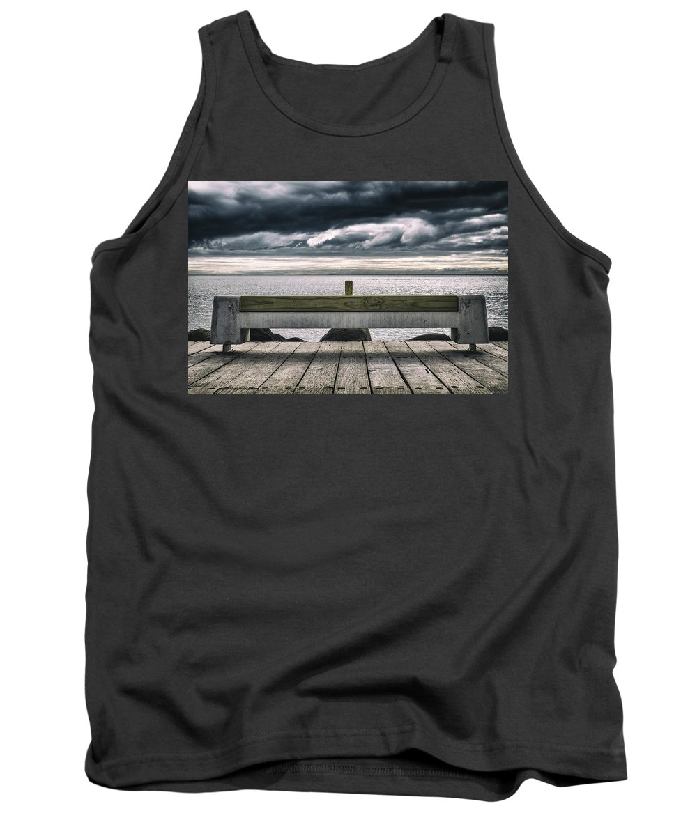 Landscape Tank Top featuring the photograph Stormy Ocean by Russ Dixon