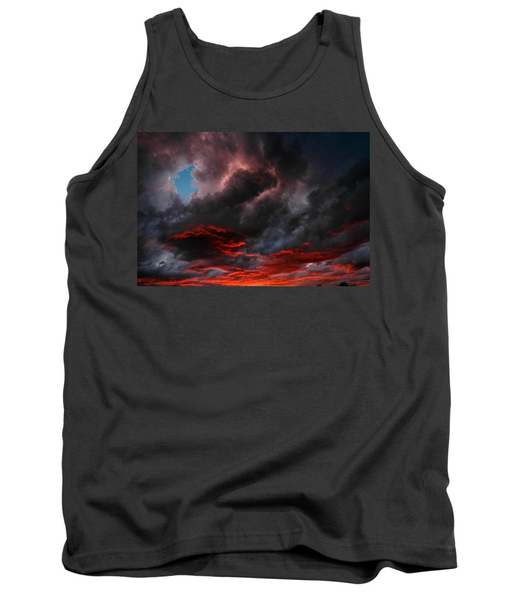 Storms Tank Top featuring the photograph Stormy Skies by Dirk Cowart