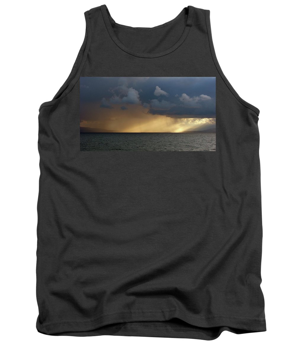 Strait Of Messina Tank Top featuring the photograph Strait Of Messina IIi by Brett Winn