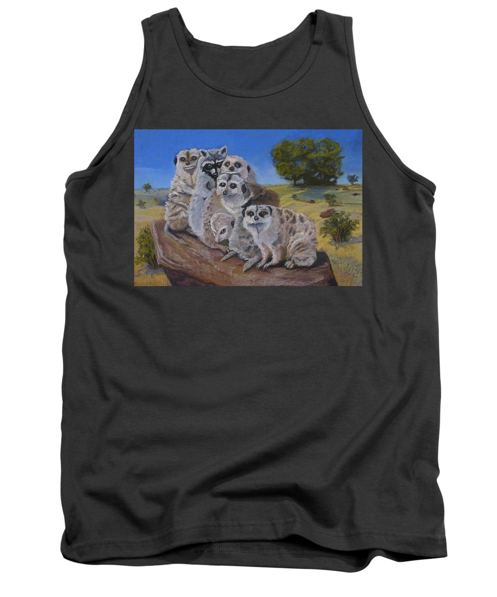 Meer Cat Tank Top featuring the painting Stranger In A Strange Land by Heather Coen