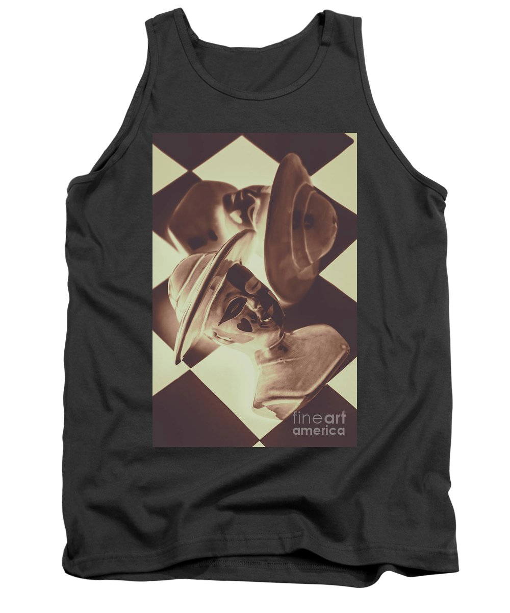 Chess Tank Top featuring the photograph Strategic Defeat In A Competition Of Romantic Loss by Jorgo Photography - Wall Art Gallery