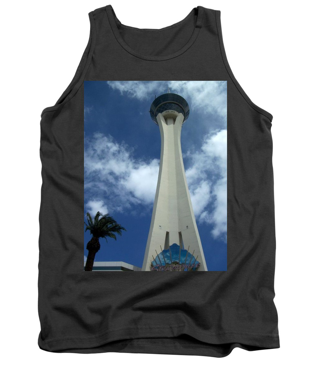 Stratosphere Tower Tank Top featuring the photograph Stratosphere Tower by Anita Burgermeister
