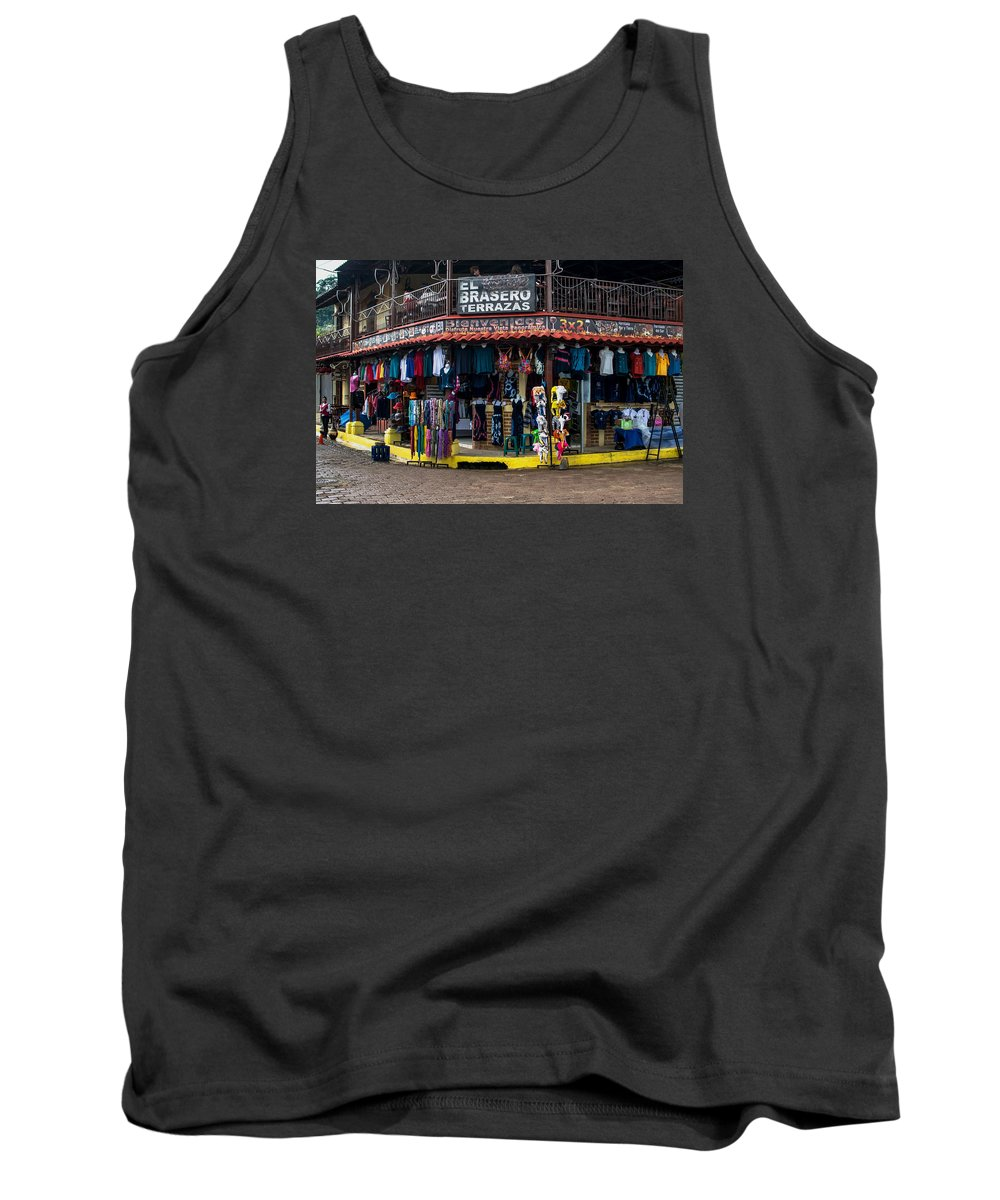Commerce Tank Top featuring the photograph Street Commerce At Ataco by Totto Ponce