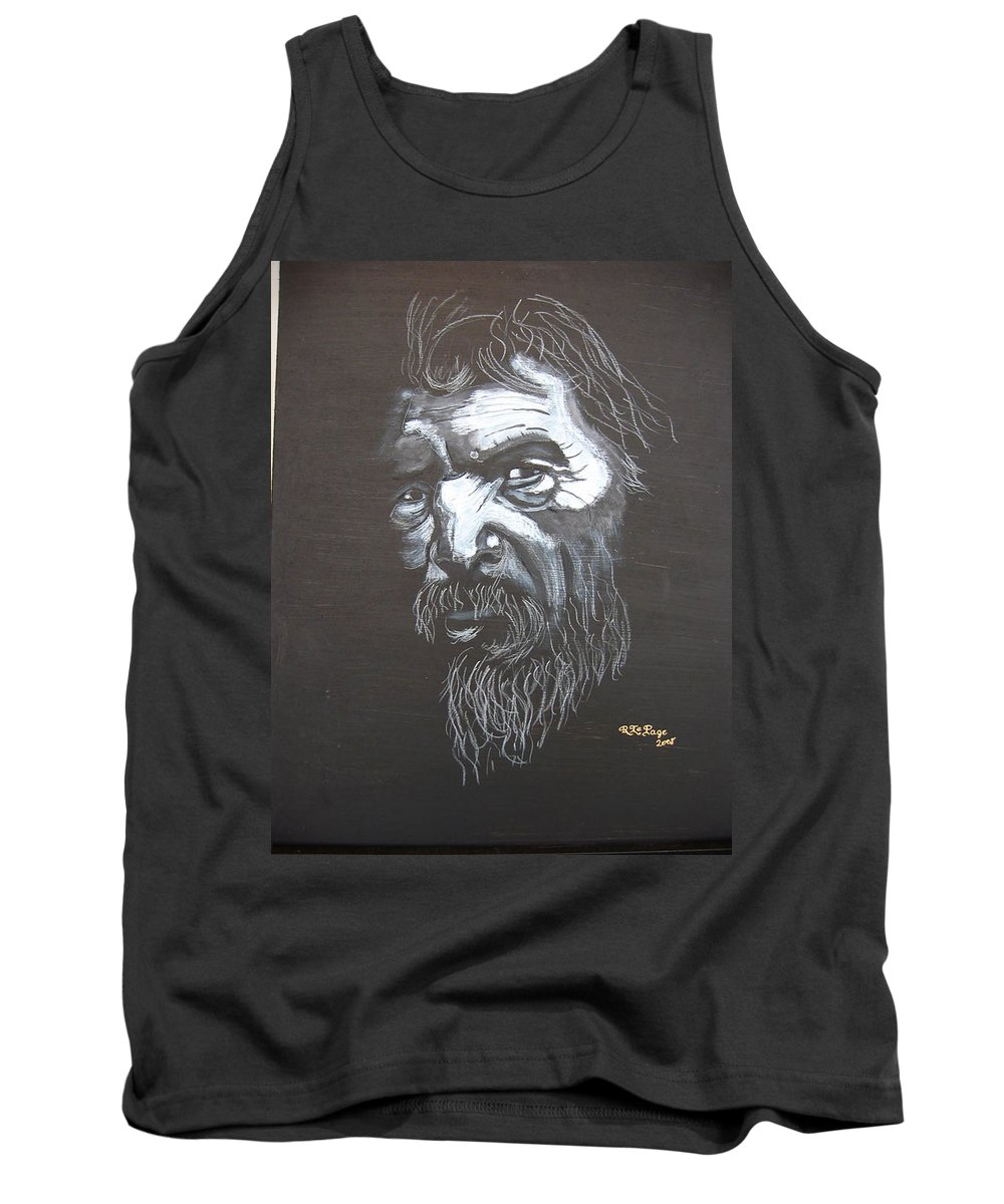 Street Tank Top featuring the painting Street Person by Richard Le Page