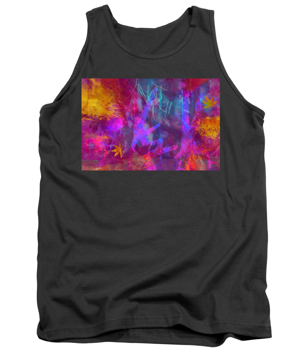 City Tank Top featuring the digital art Street Scene by Carol and Mike Werner