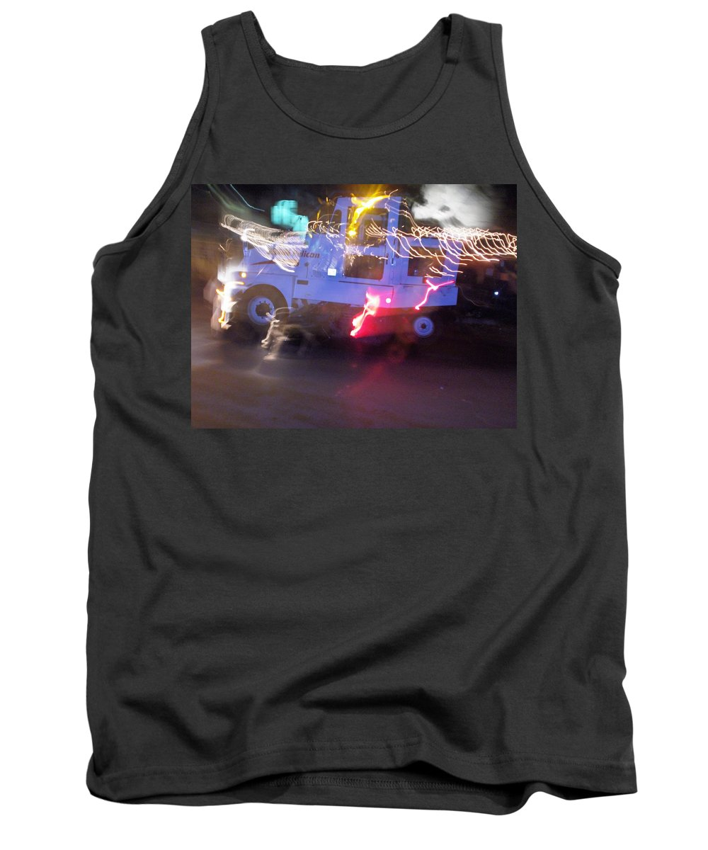 Photograph Tank Top featuring the photograph Street Sweeper by Thomas Valentine