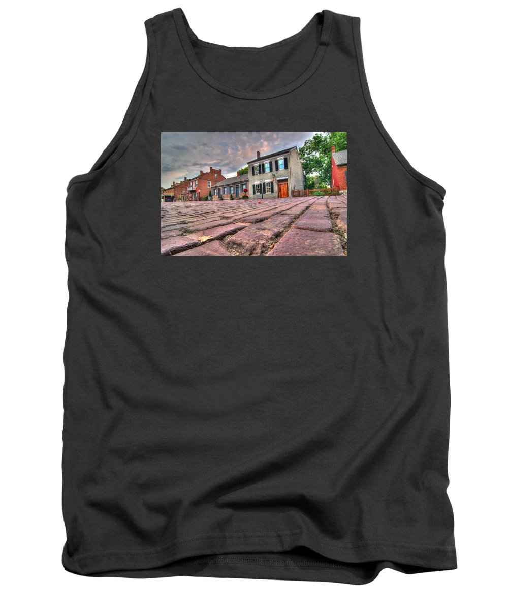 Saint Charles Tank Top featuring the photograph Street View by Steve Stuller